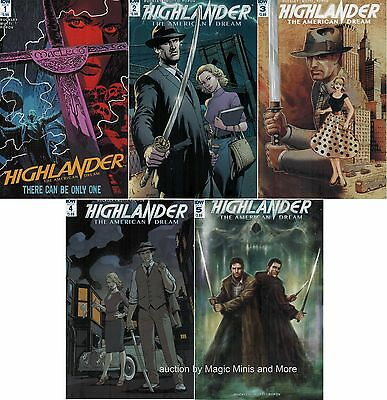 HIGHLANDER The AMERICAN DREAM 5 issue SET 1 2 3 4 5 IDW first print lot