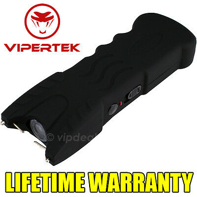VIPERTEK BLACK VTS-979 - 160 BV Stun Gun Rechargeable LED Flashlight
