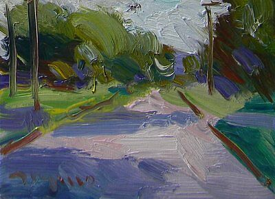JOSE TRUJILLO OIL PAINTING Abstract IMPRESSIONIST SIGNED Small 6x8 Canvas COA