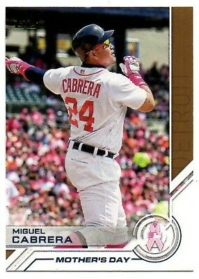 2017 Topps Salute Mothers Day S2 Miguel Cabrera Detroit Tigers
