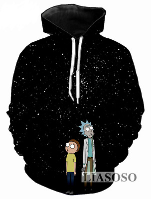 New Fashion WomenMen Rick and Morty Funny 3D Print Casual Sweatshirt Hoodies 09