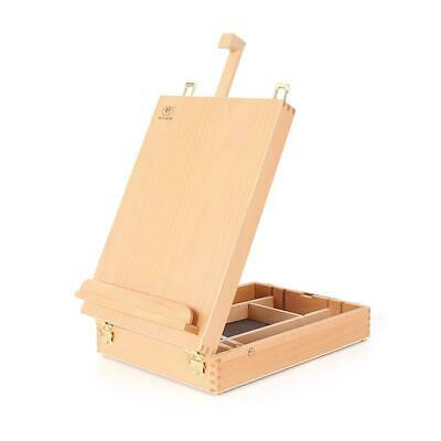 Artwork Wooden Artists Painting - Drawing Table Top Desk Box Easel with Storage