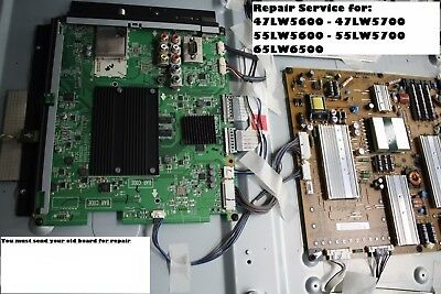 LG 47LW5600 55LW5600 47LW5700 55LW5700 55LW9800 65LW6500 MAIN BOARD REPAIR
