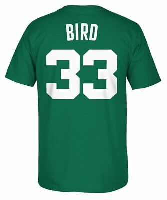 Boston Celtics Mens 33 Bird Player T-Shirt NBA adidas Green