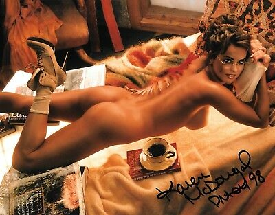KAREN McDOUGAL 1998 PLAYBOY PLAYMATE OF THE YEAR SEXY SIGNED PHOTO  C