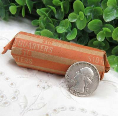 1 Roll Pre-1964 Washington Silver Quarters Circulated 40 Coins 10 Face