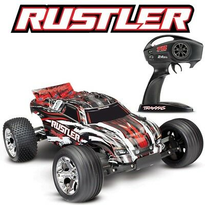 NEW Traxxas 37054-4 Rustler XL-5 110 2WD RC Stadium Truck Rock-N-Roll Edition
