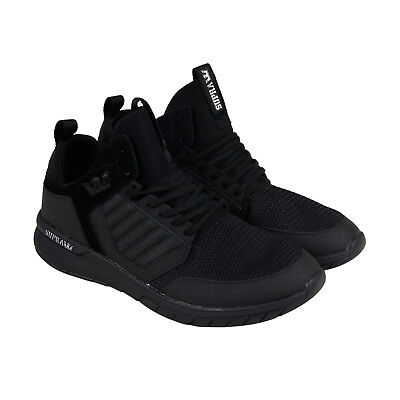 Supra Method Mens Black Mesh - Suede Athletic Lace Up Running Shoes