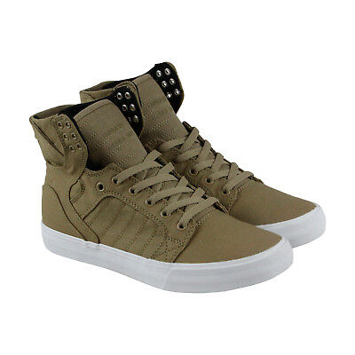 Supra Skytop D Mens BrownTextile High Top Lace Up Sneakers Shoes