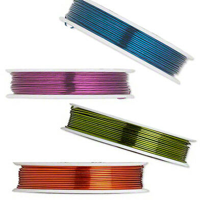 18 Gauge Colored Coated Copper Jewelry Making Bead Craft - Floral Wrapping Wire