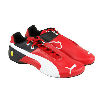 Puma Future Cat Sf Og Mens Red Leather Athletic Lace Up Training Shoes