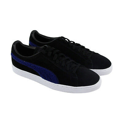 Puma Classic Terry Mens Black Suede Lace Up Sneakers Shoes