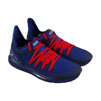 Puma Ignite Limitless Netfit Mens Blue Textile Lace Up Sneakers Shoes