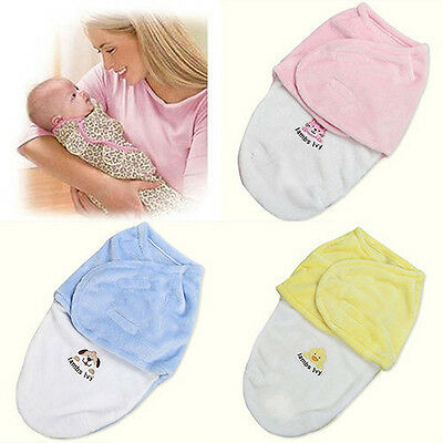 US Newborn Baby Infant Swaddle Wrap Swaddling Blanket Sleeping Bag Bedding wea