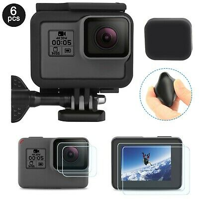 Frame For GoPro HERO 56 Black Housing Border Protective Shell Case Lens Cap
