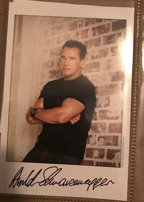 Arnold Schwarzenegger Pre Signed Postcard Received From Himself