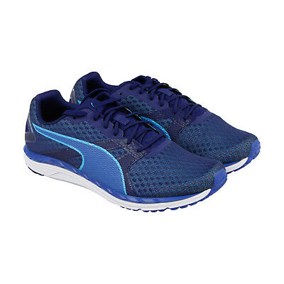 Puma Speed 300 Ignite 2 Mens Blue Mesh Athletic Lace Up Running Shoes