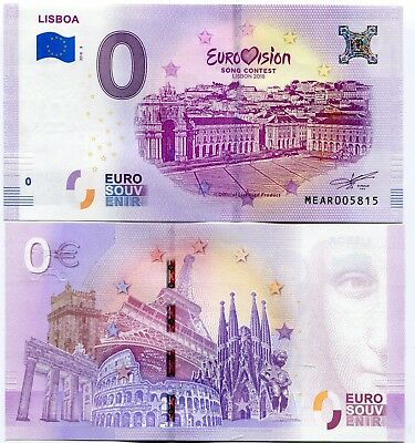 Eurovision Song Contest 2018 Portugal 0 Euro Souvenir Note  3 2nd Semi Final