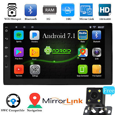 Android 7-1 Bluetooth Car Stereo Radio 2 DIN 7 MP5 Player GPS Wifi Rear Camera
