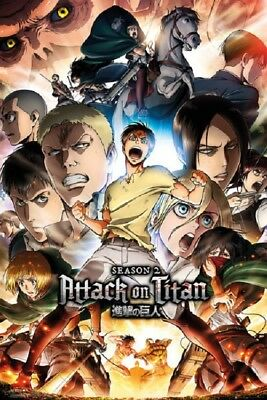 ATTACK ON TITAN POSTER CHARACTERS size 24x36