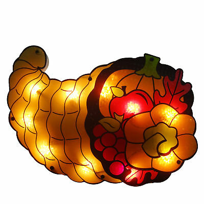 Northlight 20 Lighted Cornucopia Thanksgiving Window Silhouette Decoration
