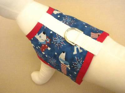 Patriotic Pups Fourth of July Dog Harness Apparel Vest