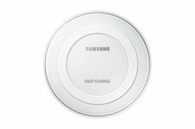 Samsung Qi Certified Fast Charge Wireless Charger Pad wWall Charger - White