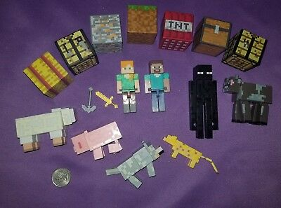 Minecraft Figures Animals Blocks Mixed Lot 7B