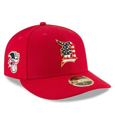 New Era Detroit Tigers Red 2018 Stars - Stripes 4th of July On-Field Low Profile