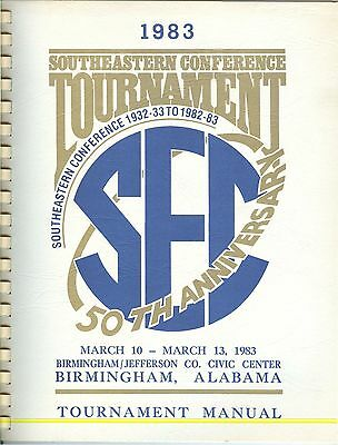 1983 SEC Southeastern Conference Basketball Tournament Birmingham Alabama GUIDE