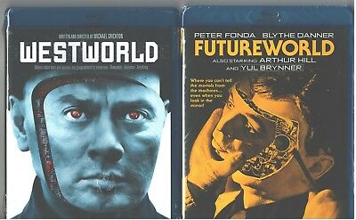WESTWORLD 1-2 Futureworld-Yul Brynner-Peter Fonda-Blythe Danner- NEW 2 BLU-RAY