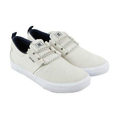 Supra Flow Mens Beige Leather - Textile Lace Up Sneakers Shoes 8