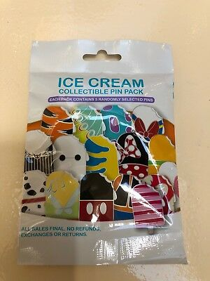 New Ice Cream Collectible pin pack Disney Mystery Booster 2018 pins