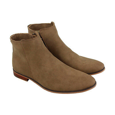 Steve Madden M-Dawson Mens Brown Suede Casual Dress Slip On Boots Shoes