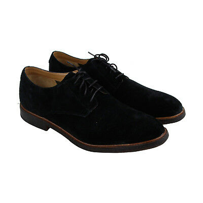 Clarks Clarkdale Moon Mens Black Suede Casual Dress Lace Up Oxfords Shoes
