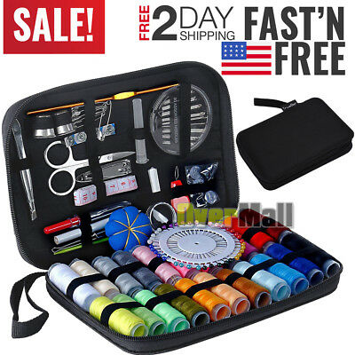 126PcsSet Sewing Kit Scissors Needle Thread For Home Stitching Hand Sewing Tool