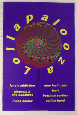 Lollapalooza 1991 Poster Nine Inch Nails Siouxsie And The Banshees ice-T