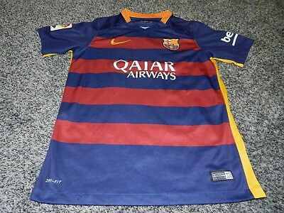 NIKE FCB FC BARCELONA 10 LIONEL MESSI SOCCER JERSEY in YOUTH SIZE LARGE