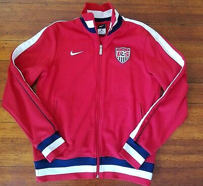 RARE Nike TEAM USA SOCCER Red Track Jacket Medium T90 World Cup