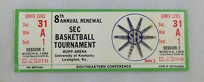 1986 0306 SEC Basketball Tournament Full Ticket - Session 2