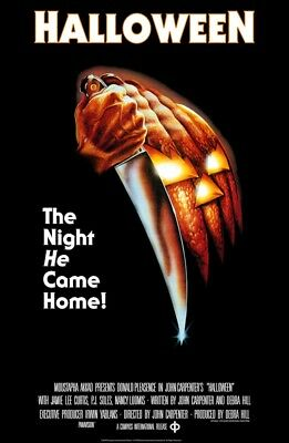 HALLOWEEN MOVIE POSTER Classic Horror Poster Size 24x36
