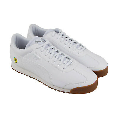 Puma Sf Roma Mens White Leather Lace Up Sneakers Shoes