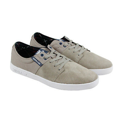 Supra Stacks Ii Mens Gray Suede - Textile Sneakers Lace Up Skate Shoes 13