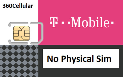 T-Mobile SIM Card DIGITAL ICCIDs numbers UN-Activated No Physical Sim shipped