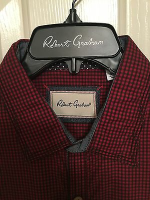 NWT Mens Robert Graham Long Sleeve Halifax Shirt Size Large