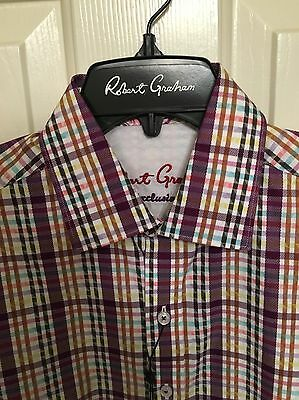 NWT Mens Robert Graham Exclusive Long Sleeve Windsurf Shirt Size XS