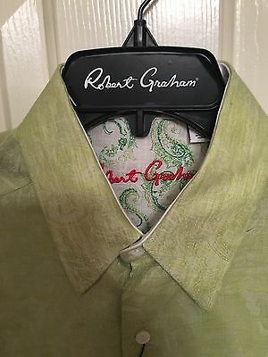 NWT Mens Robert Graham Long Sleeve Acquafin Shirt Size Small