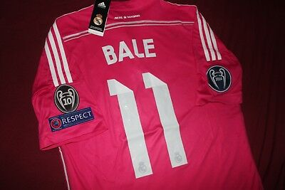 Real Madrid 201415 Away Bale UCL jersey LARGE