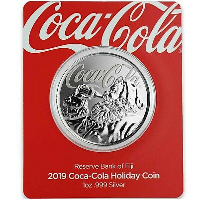 2019 1oz -999 Silver Coca-Cola® Holiday Coin - Limited Mintage Collectible A465