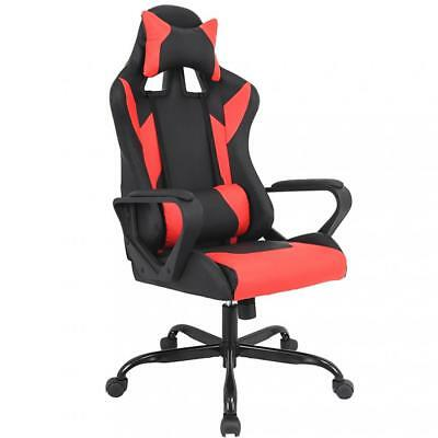 Gaming Chair Racing Chair Office Chair Ergonomic High-Back Leather Chair w Arms
